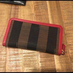 ⭐️ FENDI ⭐️ Pequin Stripe Zip Around Wallet ⭐️